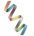 Elegant colorful ribbon banner for design vector image