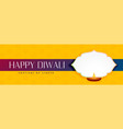 elegant happy diwali yellow banner with text space vector image vector image