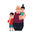family portrait grandfather grandpa standing vector image vector image