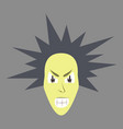flat icon on theme evil face vector image
