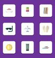 flat icon season set of wiper scuba diving vector image vector image