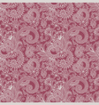 floral seamless ham pattern vector image vector image
