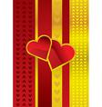 Golden love vector image vector image