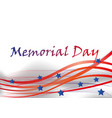 happy memorial day greeting card vector image vector image