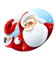 happy santa claus face vector image vector image