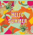 Hello summer card background over abstract blot
