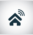 home wifi icon simple flat element design concept vector image