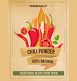 hot pepper poster traditional mexican cuisine vector image