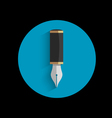 icon stylized writing pen with shadow vector image