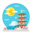 Japan pagoda flat design landmark vector image vector image