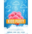 kids party invitation design poster template kids vector image vector image