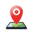 Location symbol application for smartphones vector image vector image