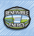logo for renewable energy vector image vector image