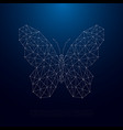 low poly butterfly silhouette beautiful geometric vector image