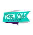mega sale ribbon style banner design vector image vector image