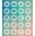Meteorology Weather transparent icons set vector image vector image