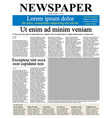newspaper front page vector image vector image