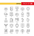 office black line icon - 25 business outline icon vector image