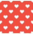 Pattern with white hearts vector image vector image