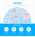 percentages concept in half circle vector image vector image