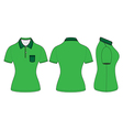 Polo woman shirt design templates