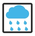 Rain Cloud Framed Icon vector image vector image