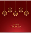 red merry christmas royal background with golden vector image vector image