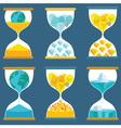 Sandglass Creative vector image
