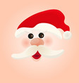 santa claus christmas holiday winter cartoon vector image
