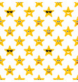 seamless pattern with stars on white background vector image