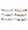 set colorful pennants isolated flags vector image vector image