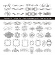 set of decorative design elements and page decor vector image