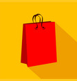 shopping bag icon over orange background colorful vector image vector image