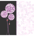 Springtime Purple Pink Hydrangea Flower vector image vector image