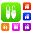tied laces on shoes joke set collection vector image vector image
