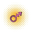 Transgender sign icon comics style vector image vector image