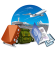 travel by the airplane vector image