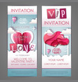 valentines day invitation design with love heart vector image vector image