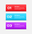 Web banners infographic elements vector image vector image