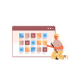 web developer testing new app features application vector image
