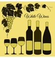 White wine set vector image vector image