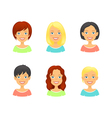 Woman hair styles of different types and colors vector image