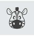 Zebra icon vector image