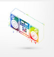 isometric watercolor tape vector image