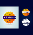 5 years warrany stickers vector image vector image