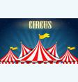 a blank circus border vector image vector image
