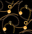 abstract seamless pattern with golden chains vector image vector image