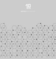 abstract technology black hexagons pattern and vector image
