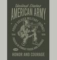 american army vector image