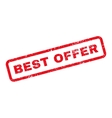 Best Offer Text Rubber Stamp vector image vector image